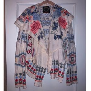 Johnny Was embroidered cardigan